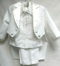 INFANT BOYS..WHITE..3 PC..TUXEDO WITH TAILS....SIZE 1