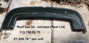 Mercedes 230sl 250sl 280sl Pagoda Roof box lid - carcass 113 750 02 75 113 #2