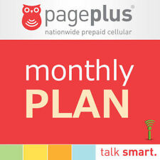 PagePlus $39.95/Month Refill, Unlimited,5.0 Gb 4G Lte Load To Phone