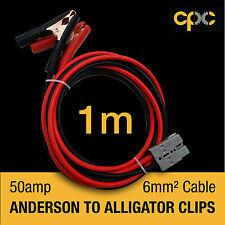 Alligator Battery Clamp 50A ANDERSON PLUG style Cable 4x4 4WD JAYCO 1m solar 12v