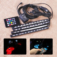 12 LED Music Control Wireless Remote Atmosphere Light Neon Stripes Fits VW Audi