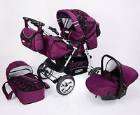 Kinderwagen Kombi ,3 in 1 VIP + Babyschale  verschiedene Farben