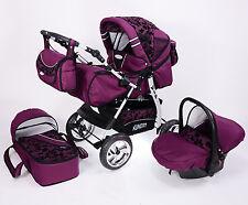 Poussette Combi, 3 in 1 VIP + Nacelle bébé en 15 couleurs!