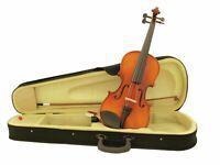 DIMAVERY Violine 4/4 mit Bogen und Case