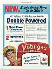 1954 MOBIL OIL MOBILGAS MOTOR OIL A3 POSTER AD SOCONY - VACUUM