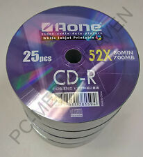 600 x Aone CDR CD-R Blank Full Face Printable FF 700mb 80mins 52x Discs CDS