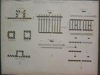 1804 Datato Antico Stampa ~ Militare Manoeuvres Retiring Linea Avanzato Di Ali