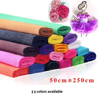 8.2ft Crepe Paper Roll Streamer DIY Paper Flower Craft Party Hanging Decoration