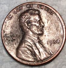1984 Lincoln Penny with Die cracks and other errors ( double ear and Liberty)