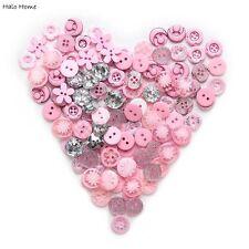 40g Mixed Pink Series Buttons Sewing Scrapbook Decor 9-15mm