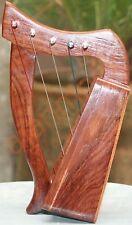 5 String Celtic Harp - Rosewood Irish Engraved Harp+ Bag