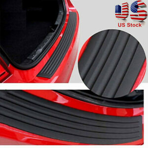 1PC Accessories Car Rubber Rear Guard Bumper Protector Trim Cover US Shipping