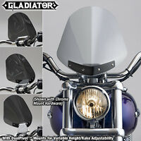 NATIONAL CYCLE GLADIATOR WINDSHIELD W/BLACK MOUNTS (LIGHT TINT) PART# N2702 NEW