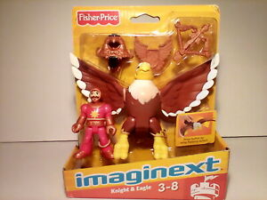 Fisher-Price imaginext Knight & Eagle 2012 NOS