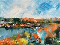 River Oil Painting Impressionism LANDSCAPE Collectable Modern Contemporary