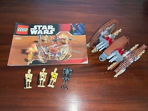 LEGO 7670 - Hailfire Droid & Spider Droid 2008. 100% complete with instructions