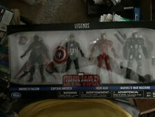 "DISNEY STORE EXCLUSIVE MARVEL LEGENDS CIVIL WAR 6"" 4 PACK  (FALCON WAR MACHINE.."