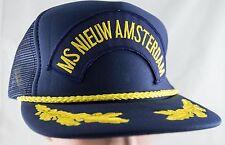 Vintage MS NIEUW AMSTERDAM Baseball Hat Snapback Trucker Mesh Cap CRUISE SHIP