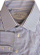 Charles Tyrwhitt chemise homme 14.5 S Blanc-Rayures bleu coupe Slim