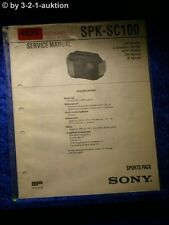 Sony Service Manual SPK SC100 Sports Pack (#4925)