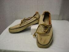 Gitano Vintage Men's 8.5 8 1/2 Beige Tan 786225 Yellow Brown Rubber Sole Shoes