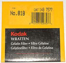 Kodak Wratten 81B Gelatin 100mm (4 inch) Square Filter NEW