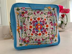 "Estee Lauder Cosmetic Bag-100% Cotton Canvas W/ Polyurethane Trim 7"" x 6.75"" X 2"