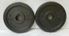 2- 6lb Weight Plates Unbranded (12lbs Total) (2.7Kg = 6lbs) Disk Plate