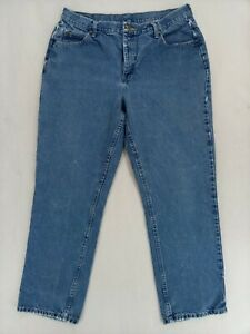 """Lee Riders Relaxed Womens Denim Blue Jeans Size 16M w/Measurements 33""""x29.5"""""""