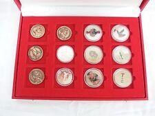 coffret collection trésor du patrimoine pièces monnaies 12 médailles égypte