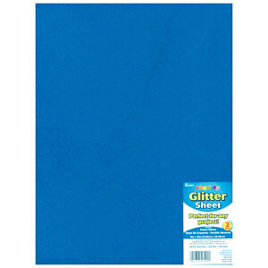Foamies Glitter Foam Sheet Royal Blue 2Mm Thick 9 X 12 Inches