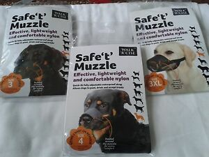 "Walk 'R' Cise Safe ""t"" Nylon Muzzle,10 sizes"