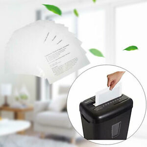 12-pack Shredder Oil Lubricant Sheets Blade Sharpening Paper Office Equipment