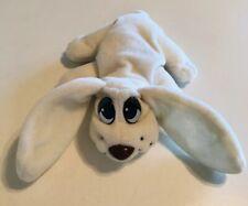 "Pound Puppies 6"" Small Plush Stuffed White Dog Lewis Galoob 1995"