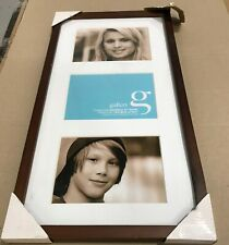 """UR1 10 inches x 20 inches Walnut Wood Photo Frame - Display 3x 5x7"""" Pictures!"""