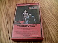 RARE OOP Manfred Mann's Earth Band CASSETTE TAPE Somewhere In Afrika