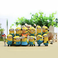 12 Set Despicable Me 2 Minions Movie Character Figure Doll Toys Gift Cake Decors
