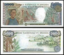 Rwanda 5000 FRANCS 1988 P 22 UNC