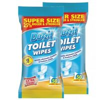 2x 50 Pack Jumbo Toilet Cleaning Wipes by Duzzit Extra Strong Super Size Large