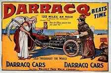 058 Darracq Vintage Photo Print A4
