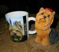 "Sandicast YORKIE Vintage 5"" seated  Made in USA ~Plus Yorkshire Terrier Mug!"