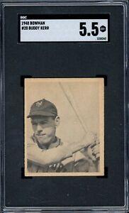 1948 Bowman Baseball #20 Buddy Kerr SGC 5.5