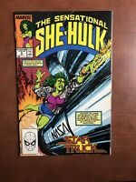 The Sensational She-Hulk #6 (1989) 7.5 VF Marvel Key Issue Copper Age Comic Book