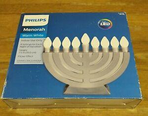 NIB New Philips Menorah LED Lights Hanukkah Chanukkah Jewish Flicker Light