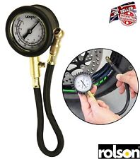 Motorcycle Car Van Tyre Pressure Guage Meter Air Dial Checker Tool 5-100 PSI