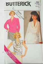 Butterick Sewing Pattern Misses' Cowl Neck Blouse, CowlNeck Shirt in Size 12-16