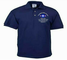158TH FIGHTER WING*BURLINGTON IAP*USAF ANG*EMBROIDERED LIGHTWEIGHT POLO SHIRT