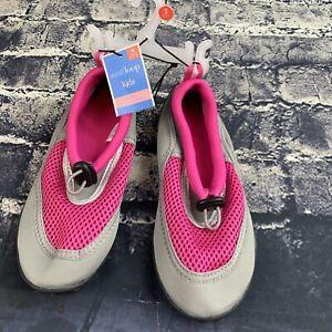 West Loop Youth Small 13-1 Water Aqua Shoes Socks Beach Pool Pink Gray