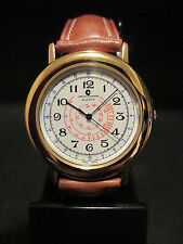 B21 NEW JB CHAMPION Gold Dress Brown Leather Band WATCH VINTAGE Classy Quartz in