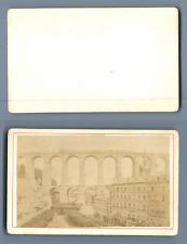 France, Viaduc de Morlaix  CDV vintage albumen.  Tirage albuminé  6,5x10,5